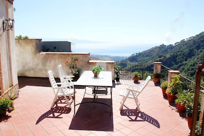 Villa Sarino located in the nature with sea and mountain view