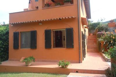 Plage de Procchio, Marciana, Toscane, Italie