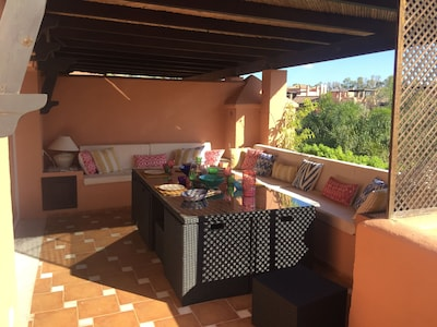 Amazing penthouse in Marbella (Guadalmina Baja) at the beach and golf course.