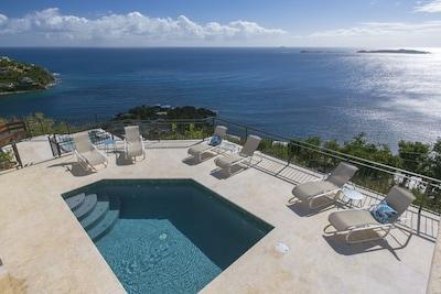 Pool Deck looking towards St Croix