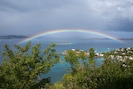 View from dining deck- rainbows are frequent!