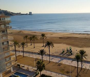 Cullera: 1ª linea de playa - apartamento con piscina y vistas al mar