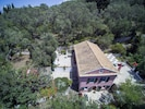 The house , terraces and private olive grove.