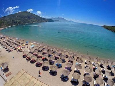 Rafailovici beach 2 minutes walk