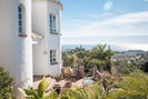 Various little terraces surrounding the villa all with great views and surrounded by nature
