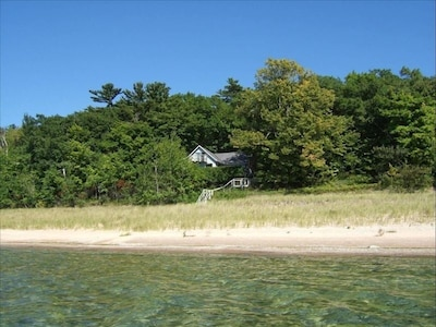 Cottage as seen from the beach