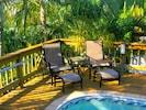 Relax or sunbathe poolside