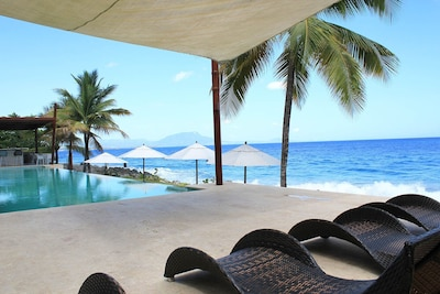 Infinity pool on the beach