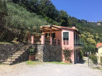Plage de Zoagli, Zoagli, Ligurie, Italie
