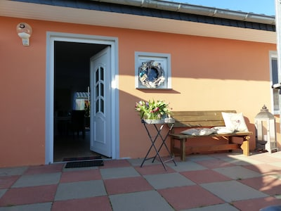 Ferienhaus Ostseemuschel, Eingang