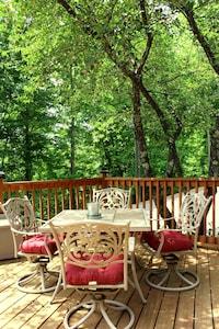 Front Porch / Deck under the Cherry Tree
