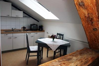 Appartement Großknecht, Dusche/WC,  für 2 Personen, Dachgeschoss, TV, W-Lan,-Apartment Großknecht