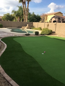 New putting green installed 2017!!!!!