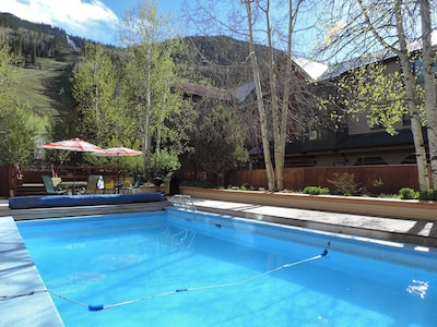 Pool area with Hot Tub and BBQ