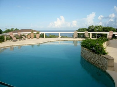 Guests enjoys the ocean views to the west in our elevated pool.