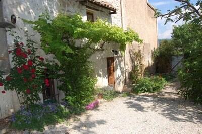 le jardin et la façade