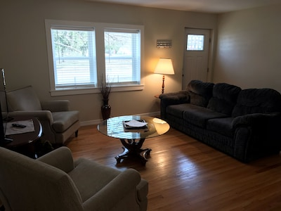 From dining room to living room front door entrance complete with SMARTV!