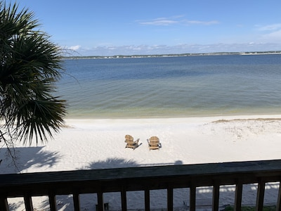 View from our deck - watch the children play or the dolphins and/or Redfish!