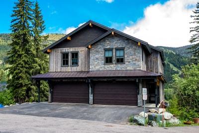This gorgeous home boasts panoramic views of Whitefish Mountain!