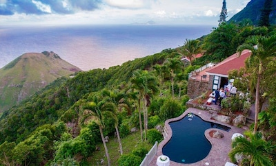 Privacy and stunning views in a lush, gated property