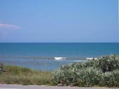 View of Ocean from condo balcony