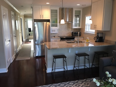 Newly renovated kitchen with new appliances