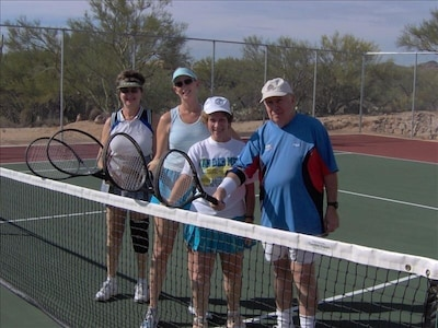 Welcome to Casita Del Sol, bring your racket, or borrow ours! Fun in the AZ sun!