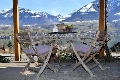 Lake Sarnen, Canton of Obwalden, Switzerland