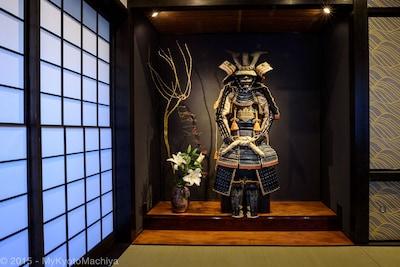 Samurai Joe, the house protector of Gojozaka Machiya
