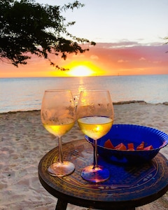 Drinks on the beach for sunset!