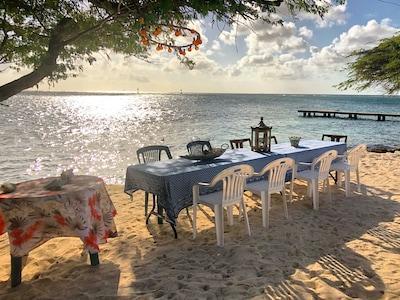 Beachside dinner
