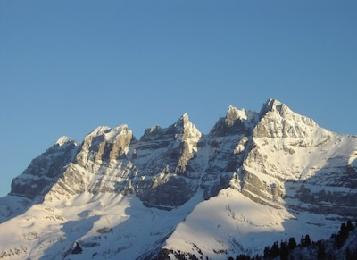 Dents du Midi - View from the terrace