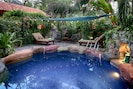Lets have a pool side fiesta and swim party at the oasis spa.