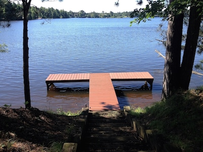 Dock; water is about 4 feet at end of dock