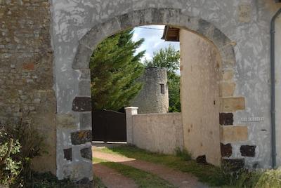 le porche de la propriété