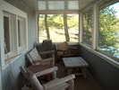 A Screen Porch Overlooking the Pond