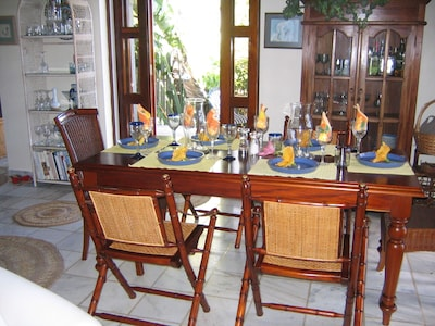 Inside dining table all set!