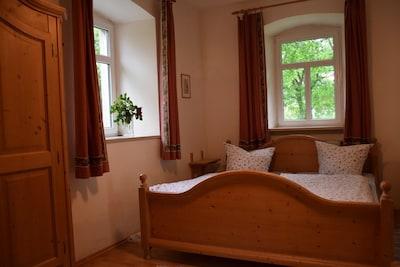 Ferienwohnung Mohnblume mit Küche und Terrasse