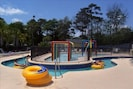 'Lazy River' pool, kiddie pool, and play area