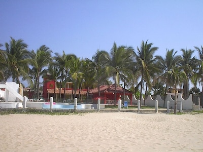 View of Villa from beach