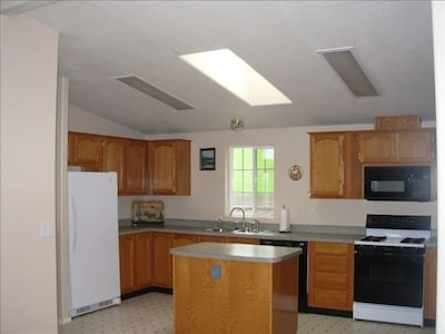 Large Kitchen with Skylight - great for entertaining