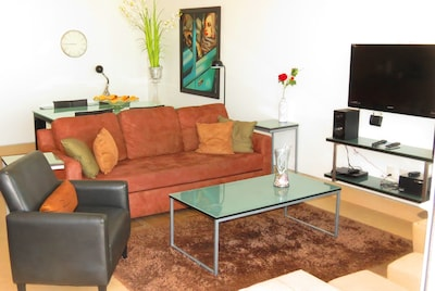 Comfortable living room with Sofa/ Bed for additional guests