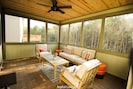 covered screen porch in the back of the house. #Joyfullodge