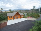 Private  mountain top setting with stunning views of Mt LeConte