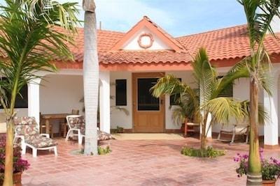 Casa Rosa Entrance and Patio