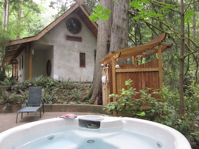 Japanese style Forest House set on 6 acres offers beauty, privacy and hot tub