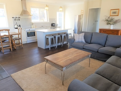 Comfortable self-contained, three-bedroom cottage sleeping up to 8 people