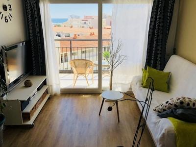 Moderno y acogedor apartamento con vistas al mar