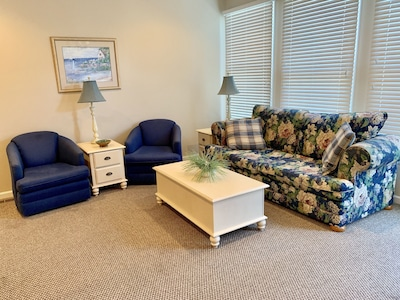 Comfortable seating in living area.