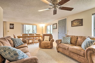 Unwind in this cozy living space each day.